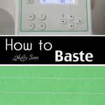 How to Baste – Sewing Glossary