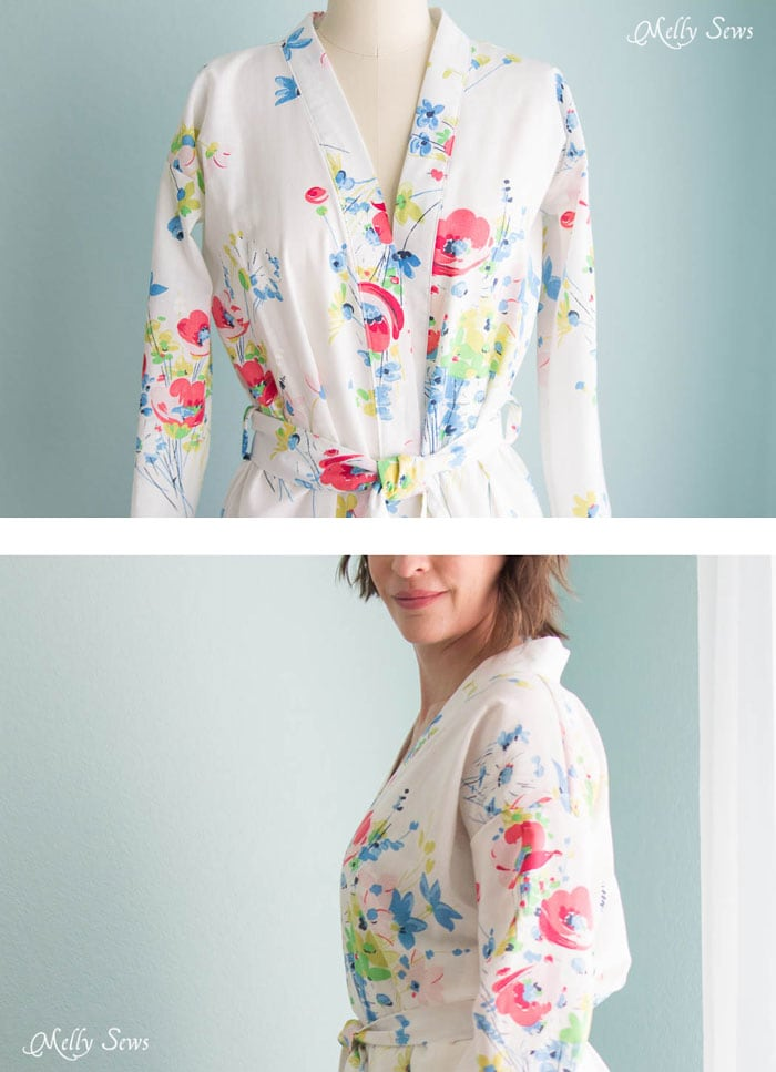 Love this! Sew a Robe from a Vintage Sheet - such a pretty project and dIY sewing tutorial - Melly Sews