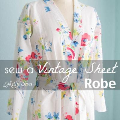 Vintage Sheet Robe