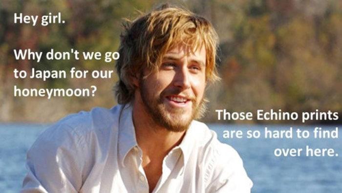 Ryan Gosling Fabric honeymoon