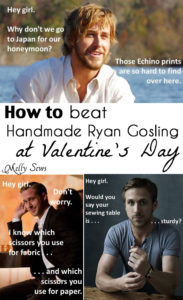 Soooooo funny! This blogger and her husband's commentary on Handmade Ryan Gosling photos - Melly Sews