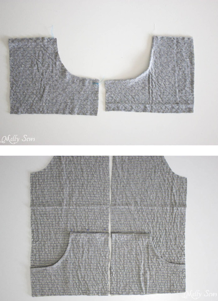 Step 1 - How to sew a reversible hoody - DIY tutorial by Melly Sews - Zinnia Jacket sewing pattern by Blank Slate Patterns