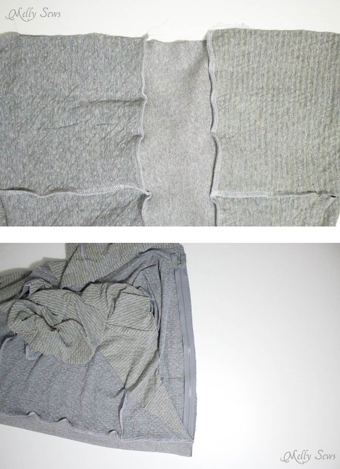 Step 2 - How to sew a reversible hoody - DIY tutorial by Melly Sews - Zinnia Jacket sewing pattern by Blank Slate Patterns
