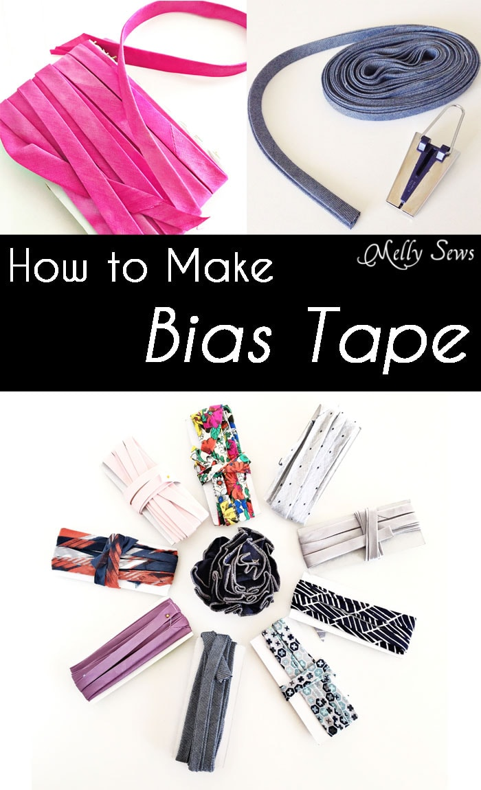 How To Make Bias Tape - Sew Custom Bias Tape with this tutorial - Video included! - Melly Sews