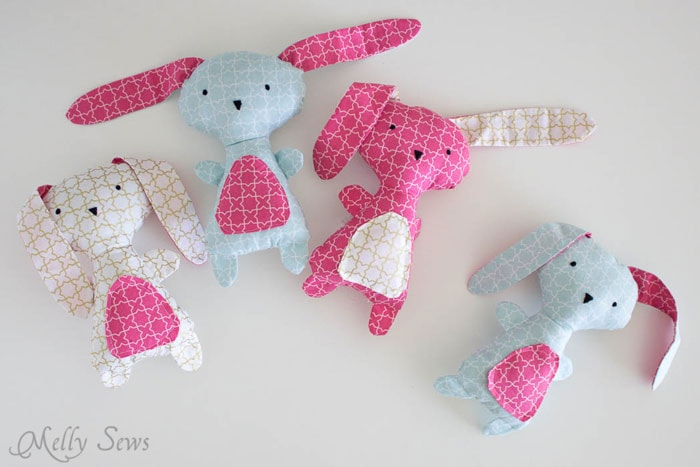 Diy easter bunny wonderland fabrics melly sews a bunch of bunnies sew a bunny diy easter bunny tutorial free pattern negle Image collections