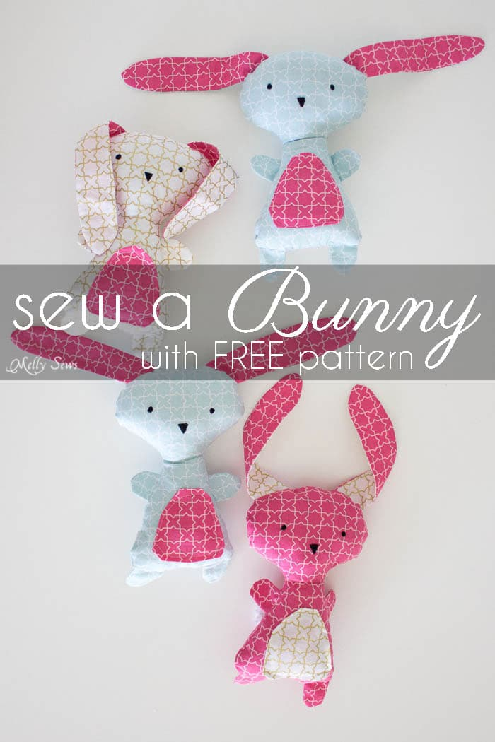 Diy easter bunny wonderland fabrics melly sews for Bunny template for sewing