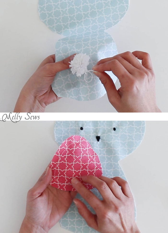Step 3 - Sew a Bunny - DIY Easter Bunny Tutorial - Free Pattern to sew this cute bunny - would make a great baby gift! - Melly Sews