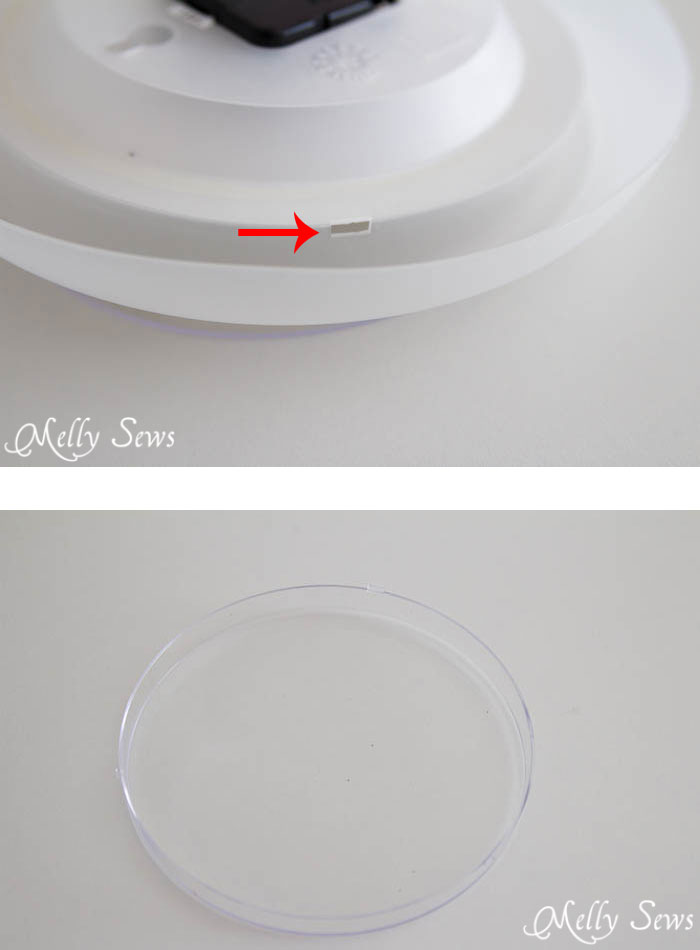 Step 1 - Make a Clock from an Embroidery Hoop - DIY Sewing Clock - Melly Sews