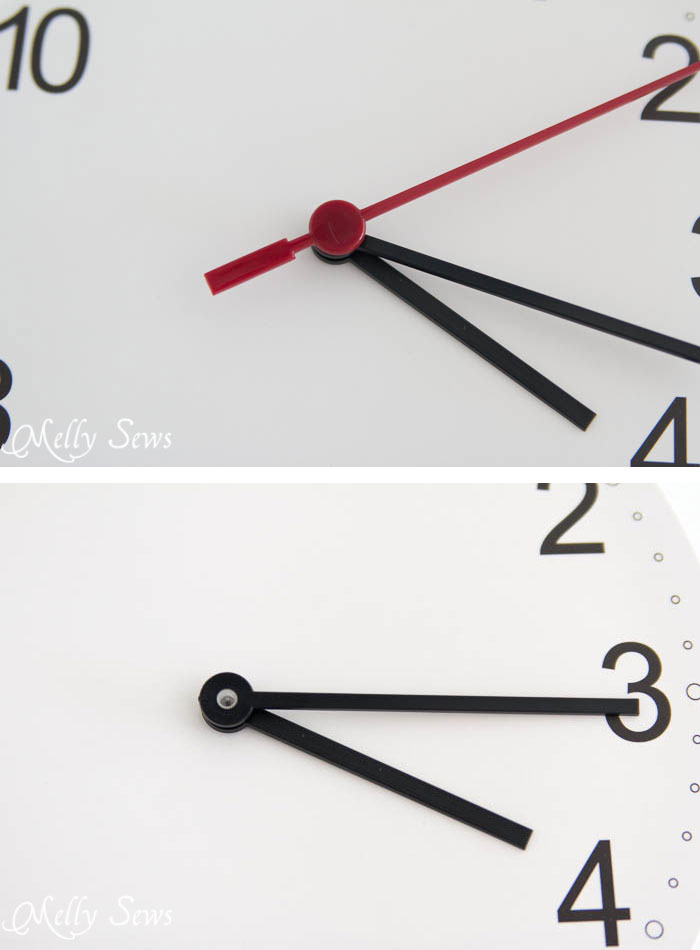 Step 2 - Make a Clock from an Embroidery Hoop - DIY Sewing Clock - Melly Sews