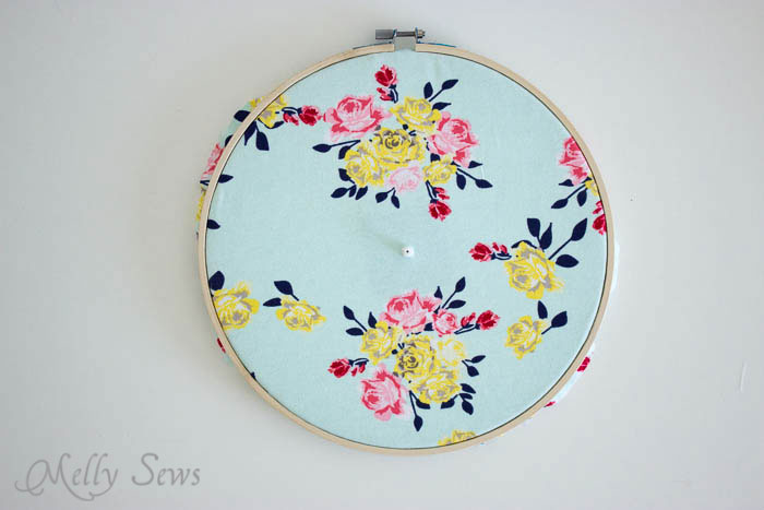 Step 4 - Make a Clock from an Embroidery Hoop - DIY Sewing Clock - Melly Sews