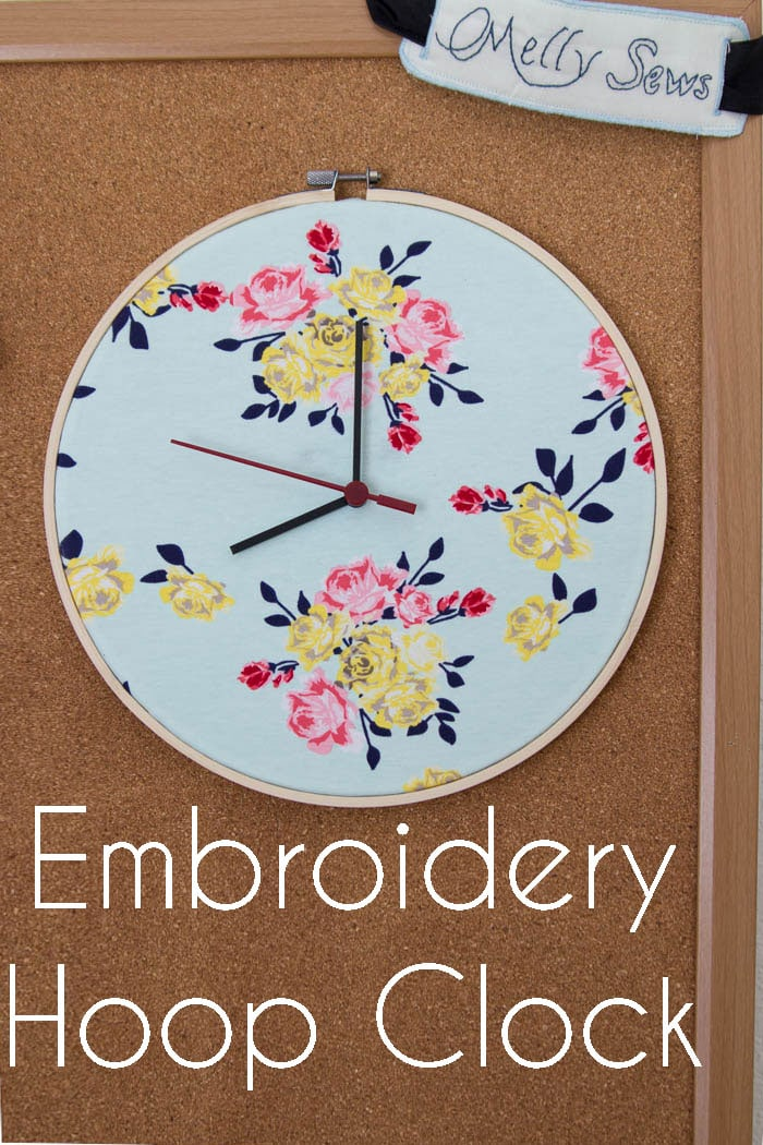 Make a Clock from an Embroidery Hoop - DIY Sewing Clock - Melly Sews