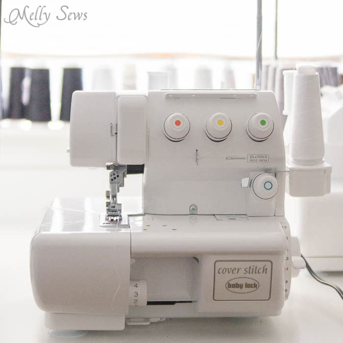 Baby Lock Coverstitch Machine - Sewing Machine vs Serger vs. Coverstitch - learn the differences between these machines to determine which ones you actually need and what to look for if you buy - Melly Sews