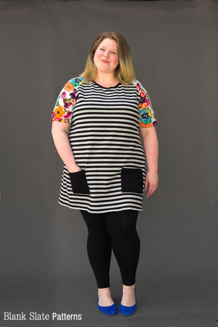 Stripes and floral! - Rivage Raglan - Women's Raglan T-shirt Sewing Pattern by Blank Slate Patterns