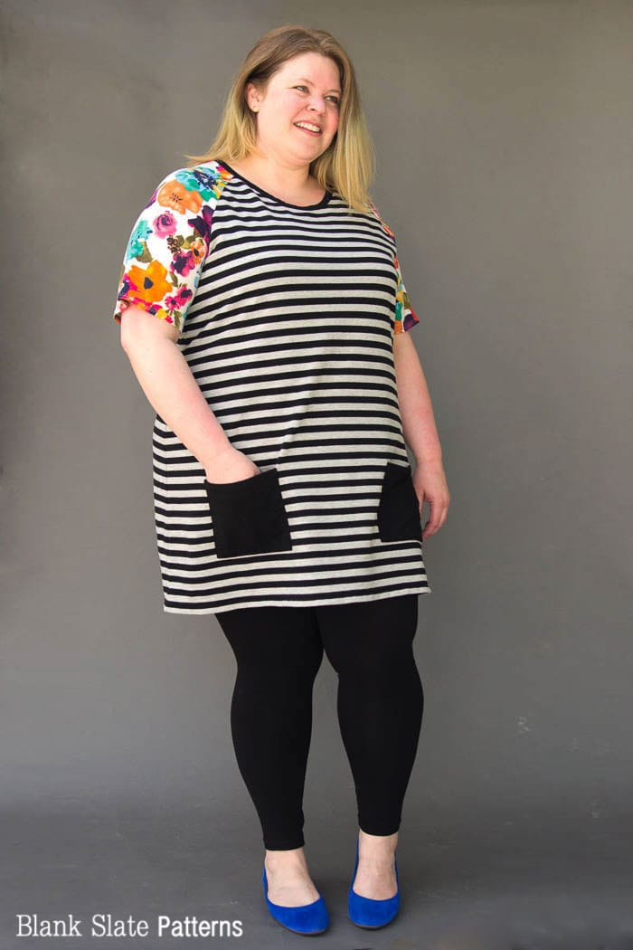 Plus size t shirt dress pattern