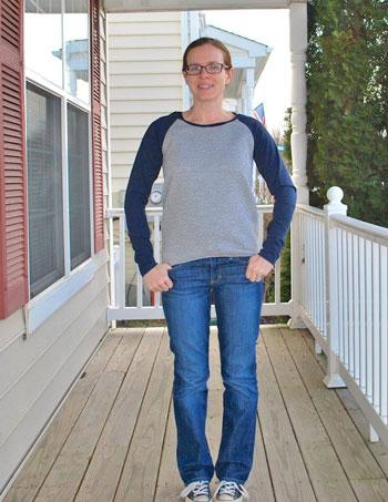 Tester long sleeve version - Rivage Raglan - Women's Raglan T-shirt Sewing Pattern by Blank Slate Patterns