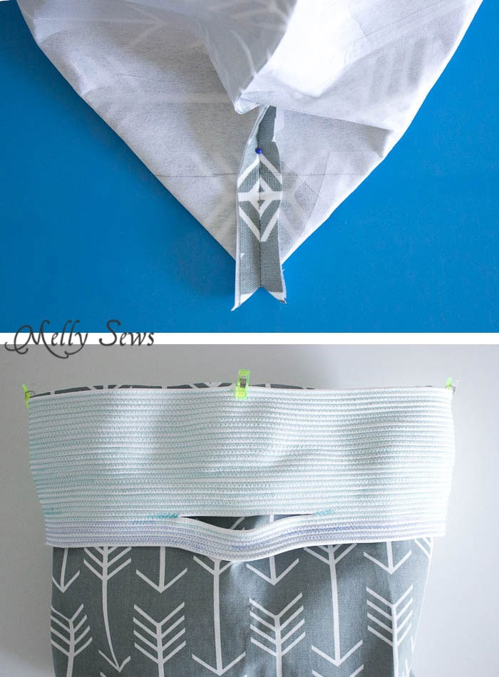 How to box corners - Sew a Rope Handled Tote - DIY Tote Tutorial - Melly Sews