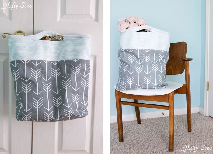 I need to make this! Sew a Rope Handled Tote - DIY Tote Tutorial - Melly Sews