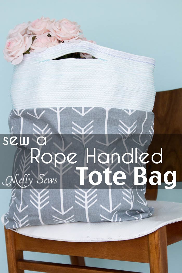 Rope Handles on a Tote Bag - Melly Sews