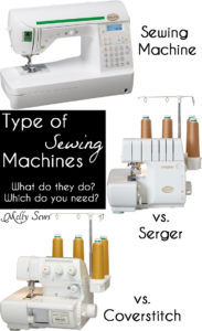 Sewing Machine vs Serger vs. Coverstitch - learn the differences between these machines to determine which ones you actually need and what to look for if you buy - Melly Sews
