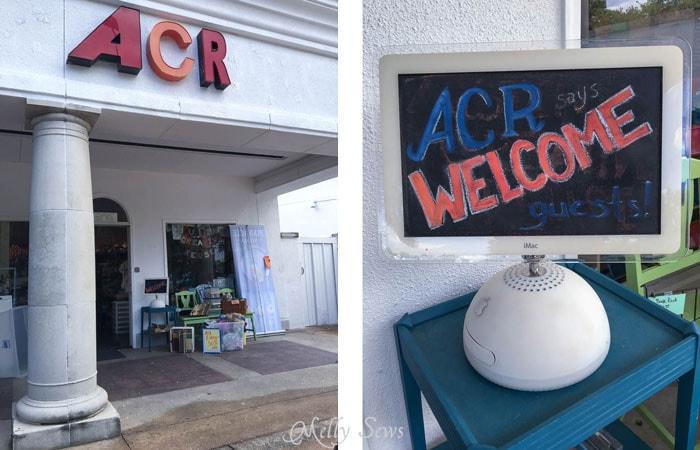 Exterior - Austin Creative ReUse and Amaya's Taco Village - Austin Notebook - Melly Sews