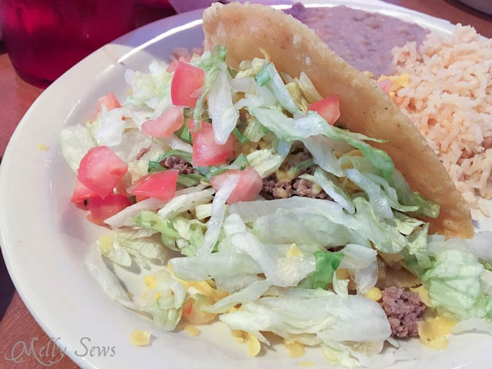 Tacos at Amaya's Taco Village - Austin Creative ReUse and Amaya's Taco Village - Austin Notebook - Melly Sews