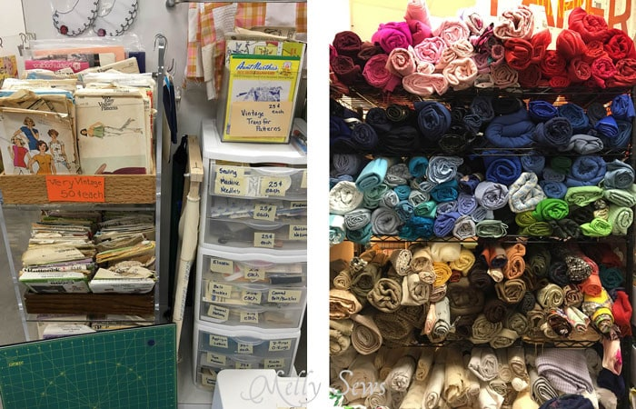 Fabric and Pattern Area - Austin Creative ReUse and Amaya's Taco Village - Austin Notebook - Melly Sews