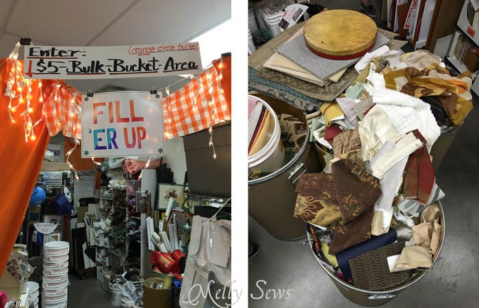 Bulk Bucket Area - Austin Creative ReUse and Amaya's Taco Village - Austin Notebook - Melly Sews