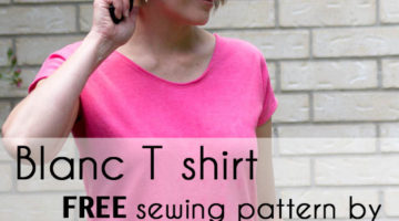 Introducing Blanc – Free Women's T Shirt Pattern!