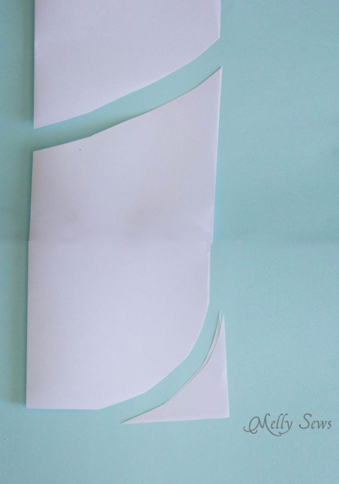 Make the pattern - Sew a Clothespin Bag - Great way to keep clothespins close at hand - Melly Sews