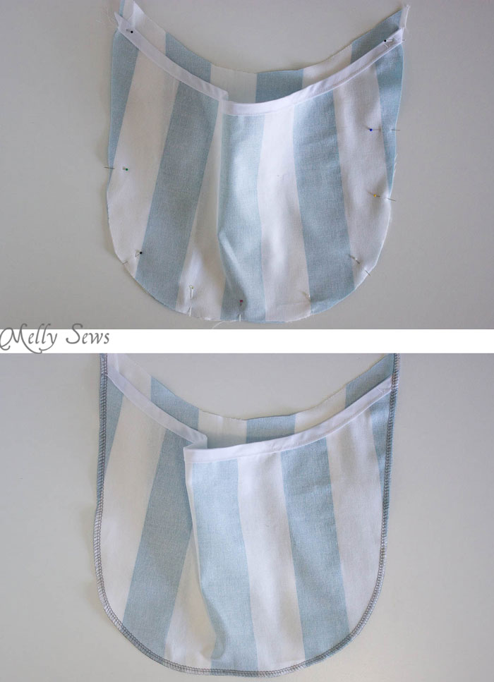 Step 2 - Sew a Clothespin Bag - Great way to keep clothespins close at hand - Melly Sews