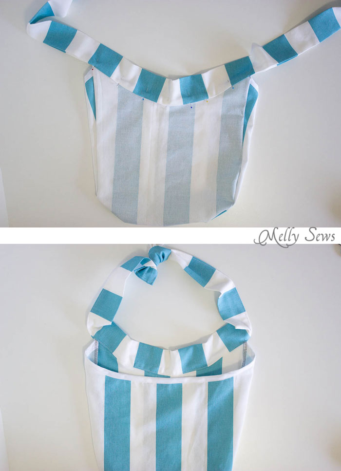 Step 4 - Sew a Clothespin Bag - Great way to keep clothespins close at hand - Melly Sews