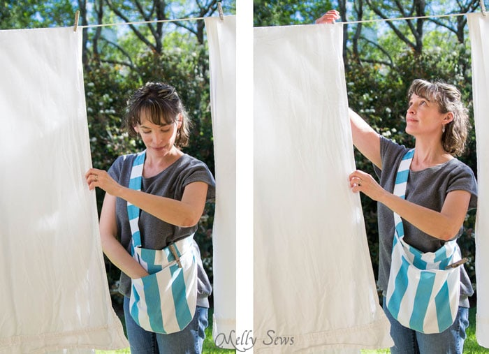 Sew A Clothespin Bag Great Way To Keep Clothespins Close At Hand Melly Sews