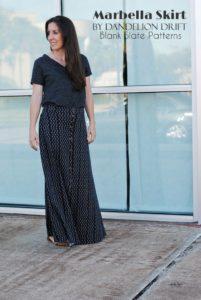 Marbella Dress to Skirt by Blank Slate Pattern sewn by Dandelion Drift