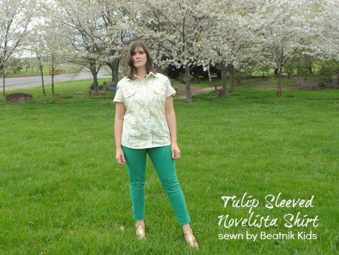 Novelista Shirt by Blank Slate Patterns sewn by Stacey of Beatnik Kids
