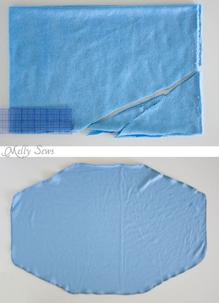 Step 1 - How to make and use a plopping towel for curly hair - curly hair care - Melly Sews