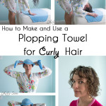 Plopping Towel for Curly Hair
