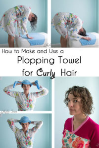 How to make and use a plopping towel for curly hair - curly hair care - Melly Sews
