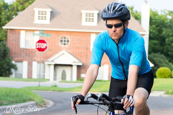 Sew a Bike Jersey - How to Modify a Women's Pattern for Men - Melly Sews