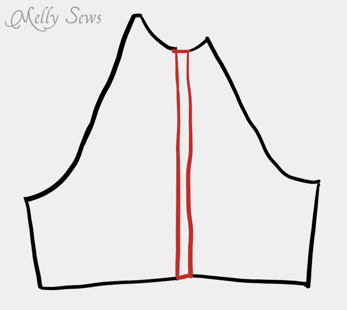 Pattern modification - changing a women's pattern for a man - Melly Sews