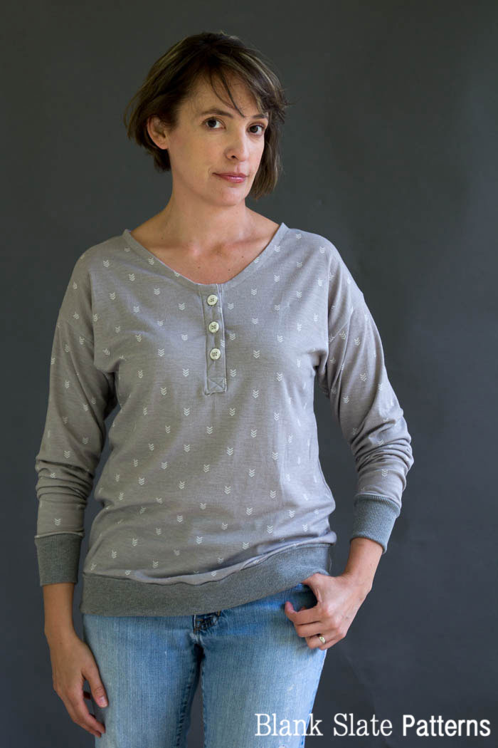 Blanc T Shirt Sewing Pattern by Blank Slate Patterns - Get the Hack Pack to add more options to your pattern! Shop blankslatepatterns.com