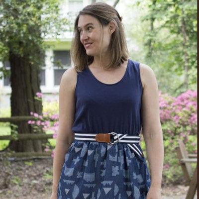Catalina Dress with A Happy Stitch