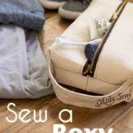 Sew a Box Zipper Pouch or Dopp Kit