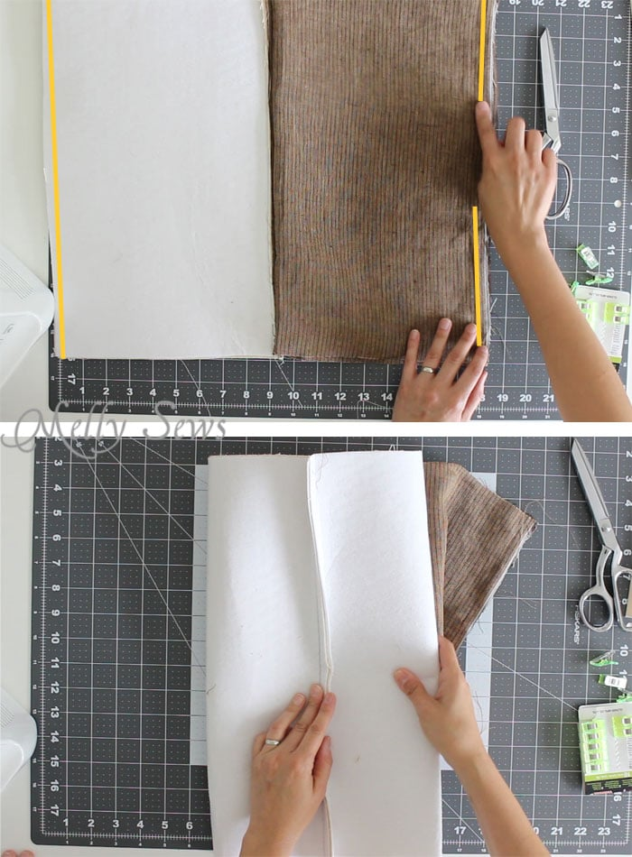 Step 2 -Sew a boxy zipper pouch or dopp kit - DIY sewing tutorial - great gift for men! Also perfect Father's Day gift sewing - Melly Sews