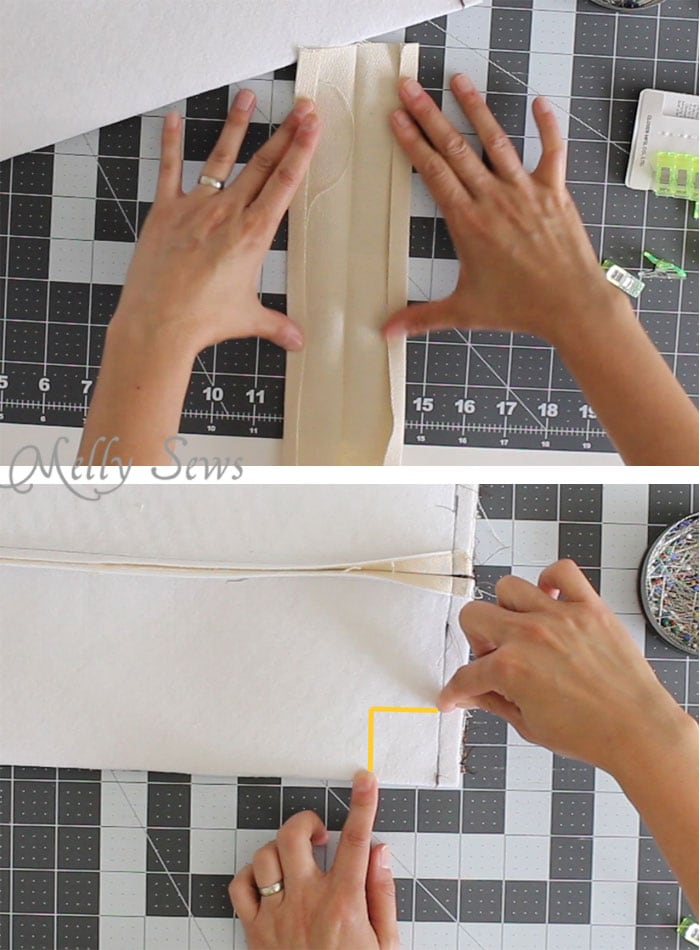 Step 5 - Sew a boxy zipper pouch or dopp kit - DIY sewing tutorial - great gift for men! Also perfect Father's Day gift sewing - Melly Sews
