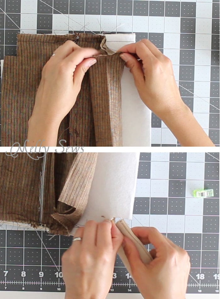 Step 6 - Sew a boxy zipper pouch or dopp kit - DIY sewing tutorial - great gift for men! Also perfect Father's Day gift sewing - Melly Sews