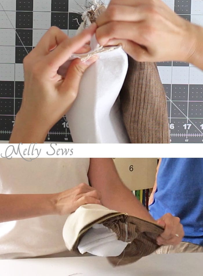 Step 7 - Sew a boxy zipper pouch or dopp kit - DIY sewing tutorial - great gift for men! Also perfect Father's Day gift sewing - Melly Sews