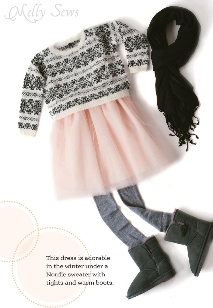 Sundress styled for winter - Driskill Dress from Sundressing by Melissa Mora - Melly Sews