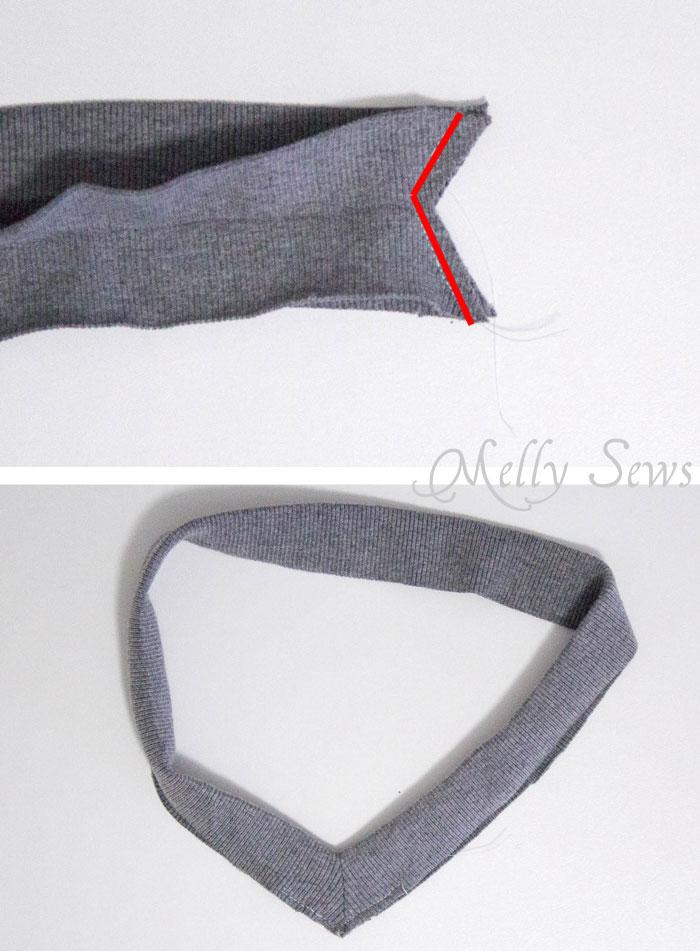 Step 2 - Alternate method to sew a V Neck