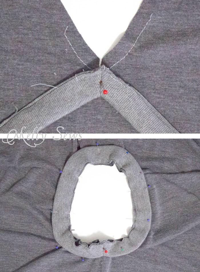 Step 3 - Alternate method to sew a V Neck
