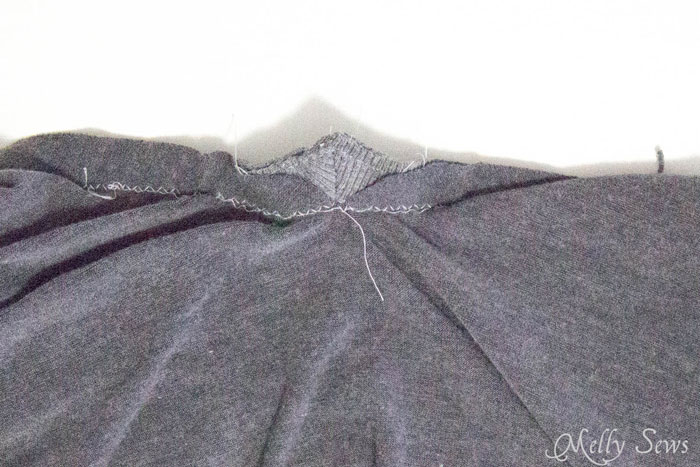 Step 4 - Alternate method to sew a V Neck